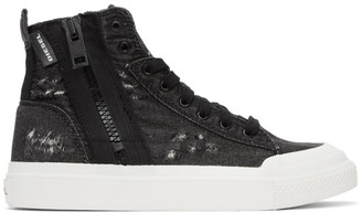 Diesel Black S-Astico Denim Sneakers