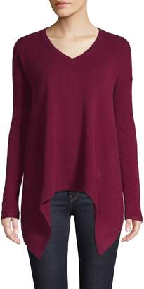 Lord & Taylor Cashmere Sharkbite Sweater