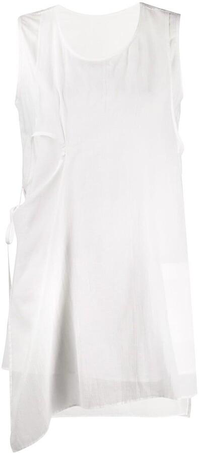 Hand Painted Tunic  Paradox  Asymmetric Top  Extravagant Top  Sleeveless Blouse  Loose Tunic  Sleeveless Tunic PB0421