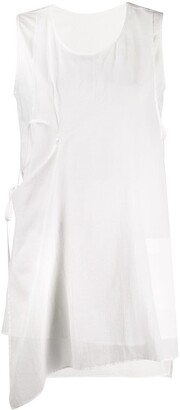 Y's Asymmetric Sleeveless Tunic