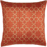 John Robshaw Geometric Orange Pillow