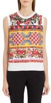 Dolce & Gabbana Women's Print Silk Top