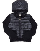 Moncler Sweater-Sleeve Zip-Front Cardigan-NAVY