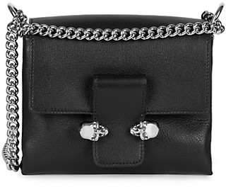 Alexander McQueen Small Twin Skull Leather Crossbody