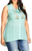 City Chic Plus Size Women's Delicate Lace Top