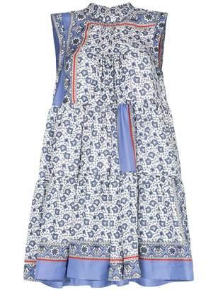 Chloé Bandana Print A Line Mini Dress