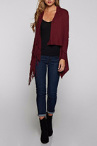 Love Stitch Asymetrical Fringe Cardigan