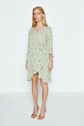 Coast Floral Wrap Short Dress