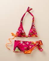 Submarine Girls' Pink Abstract 2Pc Bikini