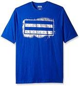 Sean John Men's Big-Tall Short Sleeve Spray Flag T-Shirt