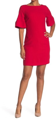 Trina Turk Sojourn Bell Sleeve Sheath Dress