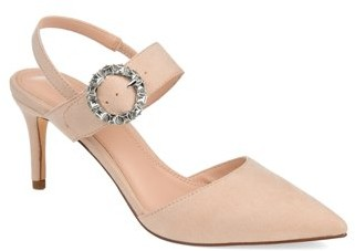 Brinley Co. Womens Pointed Toe Slingback Pump