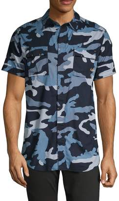 Buffalo David Bitton Camouflage-Print Button-Down Shirt
