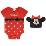 Disney BabyGirls Minnie Mouse Bodysuit With Hat