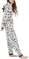 Topshop Women's Dalmatian One-Piece Pajamas