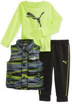 Puma 3-Pc. Shirt, Vest & Pants Set, Toddler Boys (2T-5T) & Little Boys (2-7)