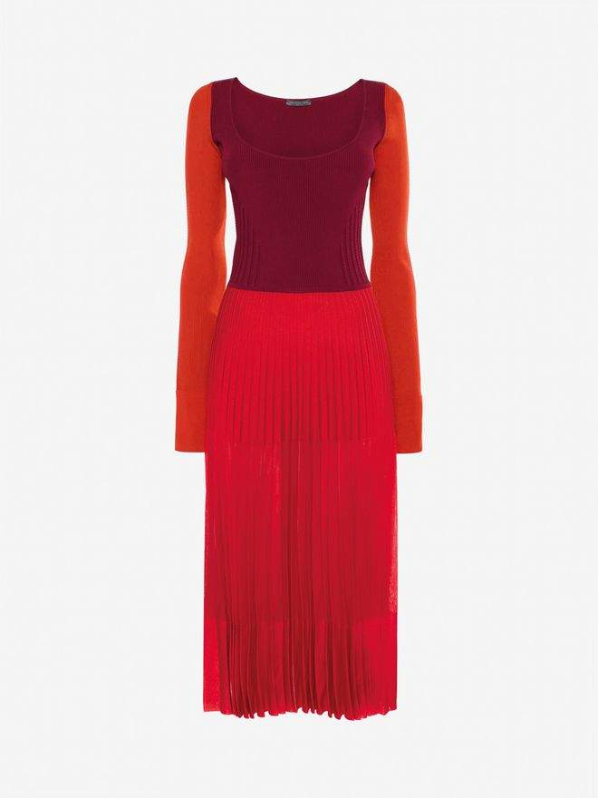 Alexander McQueen Scoop Neck Midi Dress