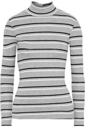 Frame Striped Ribbed-knit Turtleneck Sweater