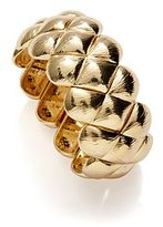 New York & Co. Textured Golden Braided Stretch Bracelet