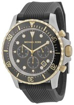Michael Kors MK8366 Everest Black Dial Black Silicone Strap 45mm Mens Watch