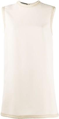 Gucci embroidered trim sleeveless mini dress