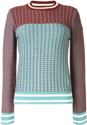Drome Mixed-Pattern Cotton Jumper