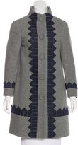 3.1 Phillip Lim Wool Appliqué-Accented Coat