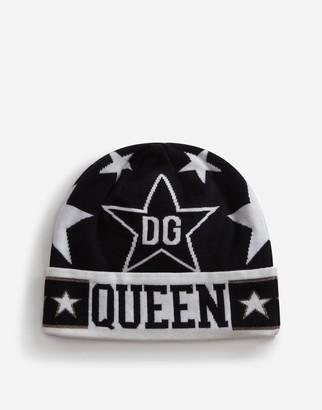 Dolce & Gabbana Wool And Viscose Jacquard Millennials Star Hat