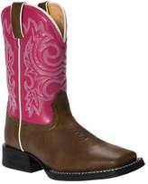 "Durango Girls' Boot BT217 8"" Pull-On - Brown/Hot Pink Boots"