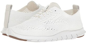 Cole Haan Zerogrand Stitchlite Oxford (Optic White Knit/Leather/Vapor Grey) Women's Lace up casual Shoes