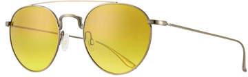 Barton Perreira Men's Metal Round Aviator Sunglasses