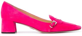 Prada square-toe heeled loafers