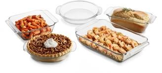 Libbey Baker's Premium 5-Piece Glass CasseroleBaking Dish Set