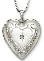 JCPenney FINE JEWELRY Photo Heart Locket Sterling Silver