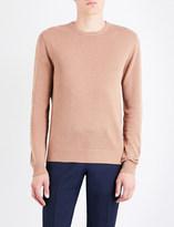 Tiger of Sweden Matias knitted linen and cotton-blend jumper