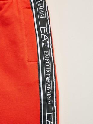 EA7 Emporio Armani Boys Tape Logo Shorts - Red