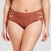 Xhilaration Women's Plus Size Lace Detail Hipster Bottom