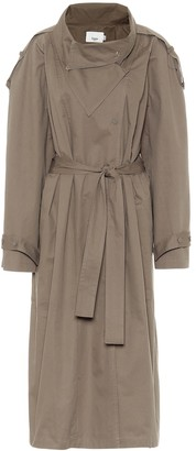Frankie Shop Collar Volume cotton trench coat