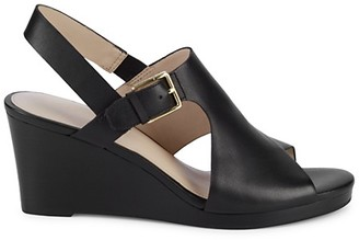 Cole Haan Phlma Grande Leather Wedge Slingback Sandals