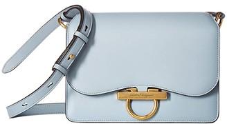 Salvatore Ferragamo Classic Flap Bag (Blue Haze) Handbags