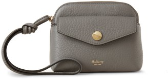 Mulberry Press Stud Pouch Charcoal Heavy Grain
