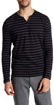 Kenneth Cole New York Long Sleeve Striped Henley Shirt