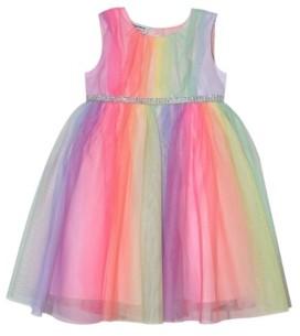 Blueberi Boulevard Toddler Girls Rainbow Tulle Dress