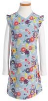 Tea Collection Girl's Yukar Wrap Neck Dress