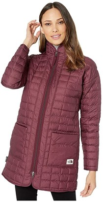The North Face ThermoBalltm Eco Long Jacket (Deep Garnet Red Heather) Women's Coat