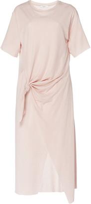 Áeron Vicky Knotted Jersey Midi Dress