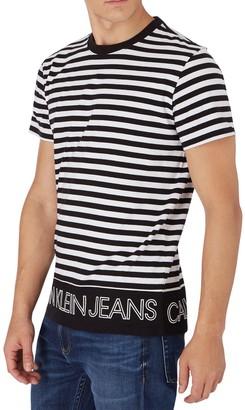 Calvin Klein Jeans Outline Logo Striped T-shirt