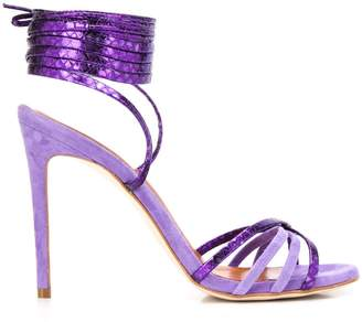 Paris Texas wrap-around strappy sandals