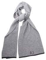 Armani Jeans Men's Grey Viscose Scarf.