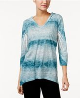 Style&Co. Style & Co Petite Sublimated-Print Hoodie, Only at Macy's